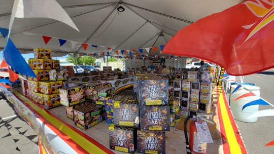 A fireworks stand in Cedar City on June 24, the first day of licensed fireworks sales.