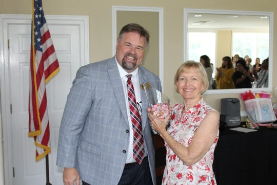 Nancy Daniels and TBA President John Sawicki.
