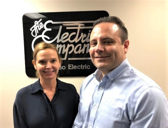 Mary Kipp, left, former El Paso Electric CEO, and Adrian Rodriguez, the company's general counsel and interim CEO.