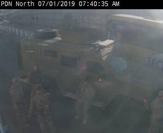 El Paso traffic cameras at Paso del Norte bridge appear to show a response after protests on the Mexican side of the border.