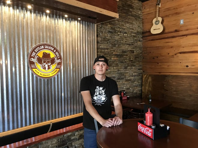 Angel Licon, a third-generation family member of Licon Dairy owners, has opened the Outlaw Saloon & Grill on the property.