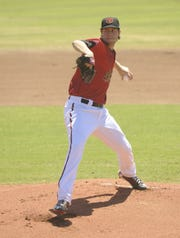 In this 2013 file photo, Visalia Rawhide pitcher Tyler Skaggs pitches at Recreation Park in Visalia.