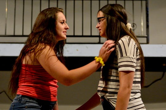 "Ellie (Alyssa Minuto) and Katherine (Angelica Concepcion) in ""Freaky Friday,"" the story of a mother and daughter changing places, opens 7:30 p.m. Friday, July 12 and Saturday 13 on the Backdoor Theatre Main Stage as Backdoor's 52 annual Summer Youth Musical."