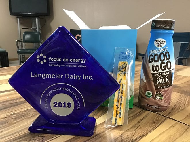 Langmeier Dairy received the Energy Efficiency award from Focus on Energy on June 24.