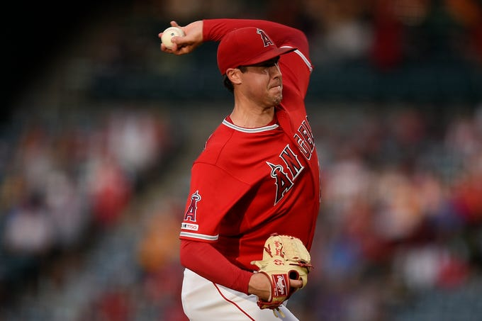 Skaggs during his start on June 29 against the Athletics.