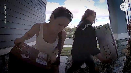 Two thieves stole a package meant for a sick 5-year-old. Then they tearfully returned it