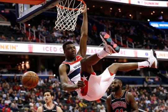 Washington Wizards center Thomas Bryant.