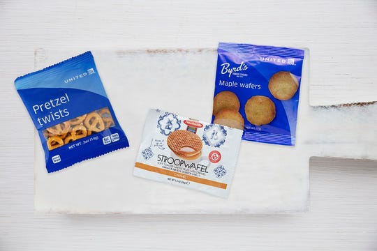 United Airlines announced that customers will be able to choose between Byrd's Maple wafers, pretzels and the stroopwafel on all of its domestic flights— any time of the day, effective July 1.