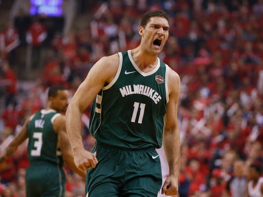 Milwaukee Bucks center Brook Lopez.