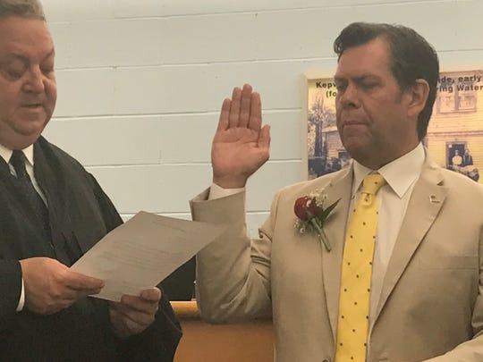 Ocean Township Mayor Christopher P. Siciliano is sworn in July 1, 2019.