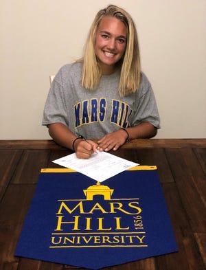 Madison's Ashley Hamlin has signed to play softball at Mars Hill University.