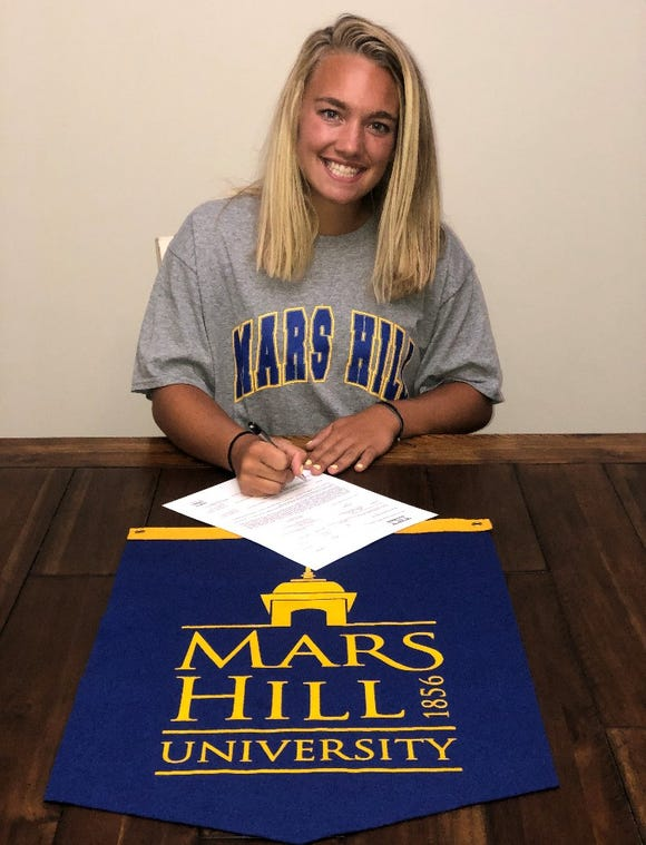 Madison's Ashley Hamlin has signed to play softball at Mars Hill University.