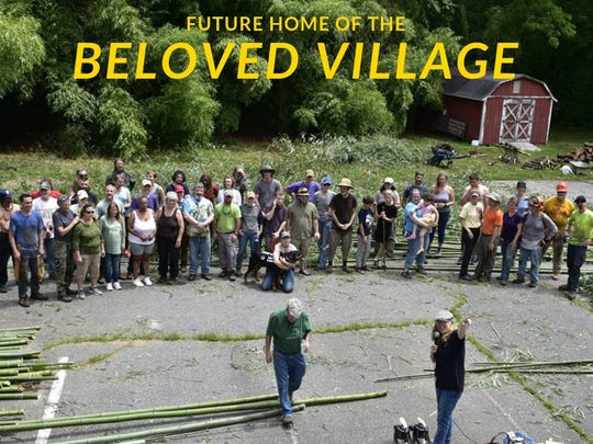 "A group of volunteers helped with site work on the planned BeLoved Village, which will comprise 12 ""micro homes"" for low-income residents."
