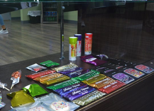 Great Lakes Holistics offers a variety of edible marijuana products including suckers, cookies and candy bars.