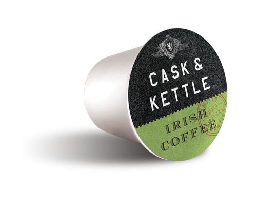 Cask & Kettle is currently selling an Irish Coffee and a Hard Dry Cider.