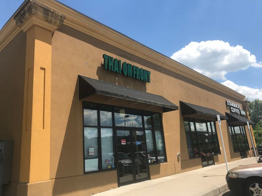 Thai on Front is in the same plaza as Starbucks Coffee across from SUNY Brome in Binghamton.