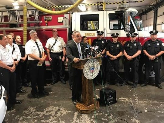 Binghamton Mayor Richard David announced a $900,000 investment into public safety vehicles for the city on Tuesday, July 2, 2019.