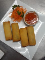 Fried spring rolls are served as an appetizer at Thai on Front in Binghamton.