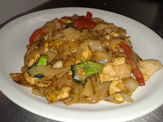 Drunken Noodle is a popular dish at Thai on Front in Binghamton.