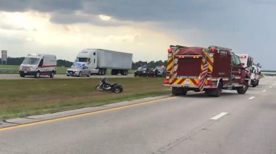 A man was killed in a motorcycle wreck on U.S. 30 at the Ohio 602 exit on Tuesday afternoon.