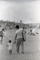 Families gathered at McGee Beach in Corpus Christi to celebrate the holiday on July 4, 1965.