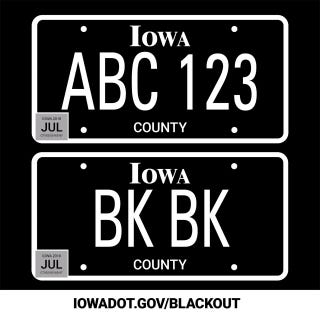 Black 11 Designs Private Custom Order License Plate Frame