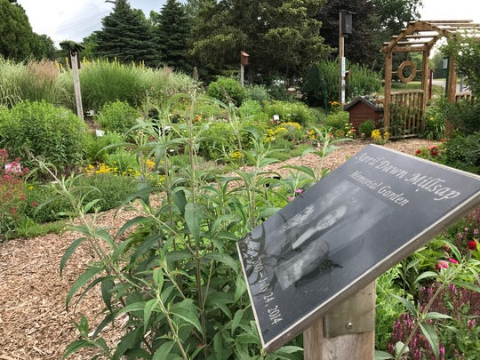 The April Millsap Memorial Garden in Armada on July 2, 2019.