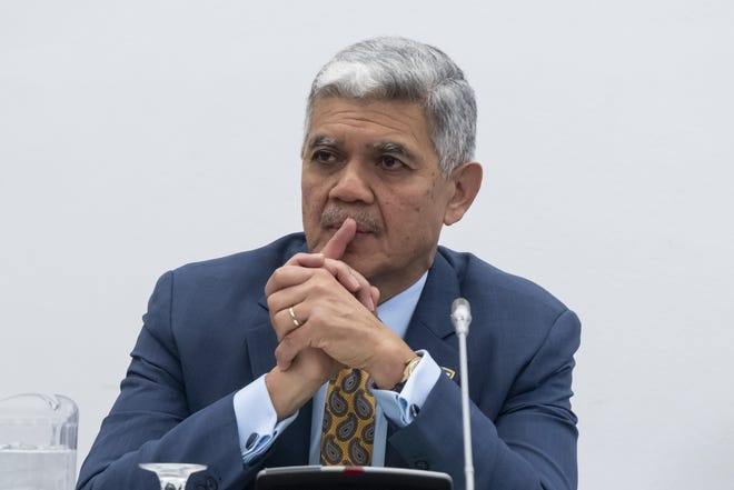 M. Roy Wilson, president of the Wayne State University, is shown here in March.