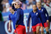 Megan Rapinoe was not in the starting lineup for the United States in the Women's World Cup semifinal match against England on Tuesday night.