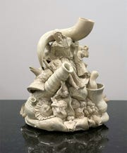 "The glazed-porcelain ""Untitled"" by David Klamen at Detroit's Simone DeSousa Gallery."