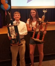 Tyler Lewis and Bella Willsey were named Athletes of the Year at Thomas A. Edison High School for 2018-19.