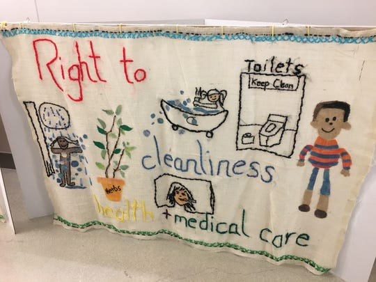 "The ""Right to Health and Medicine"" is one of the seven panels of the ""BY YOU"" Tapestry expected to visit Fond du Lac."