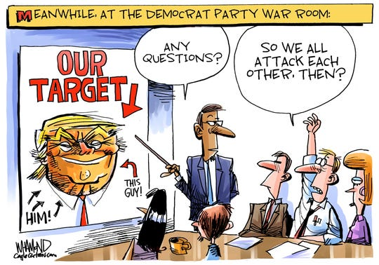 Democrats should attack Trump or each other?