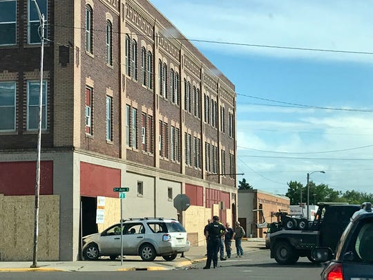 A car struck a building downtown on 2nd Ave South on Tuesday evening.