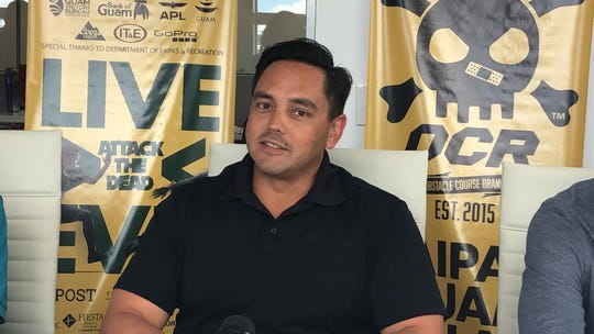 Bank of Guam's Joaquin Cook talks about his experience with the Konqer obstacle course, and how the bank shares the Konqer motto of wellness through play. He was part of a panel of sponsors introduced at a race update Tuesday afternoon at the APL Guam office in Tamuning.
