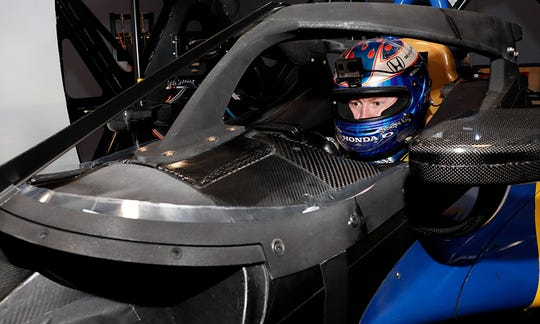 Scott Dixon tests Aeroscreen prototype