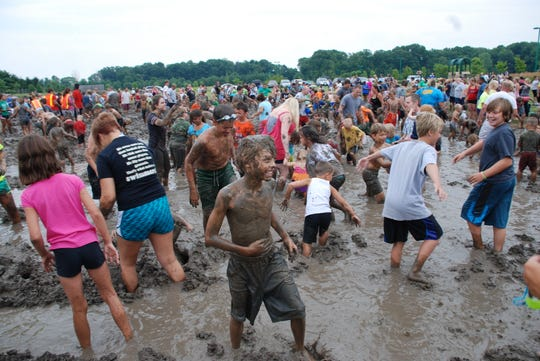Mud Day in Fishers is July 13, 2019 at Cyntheanne Park.