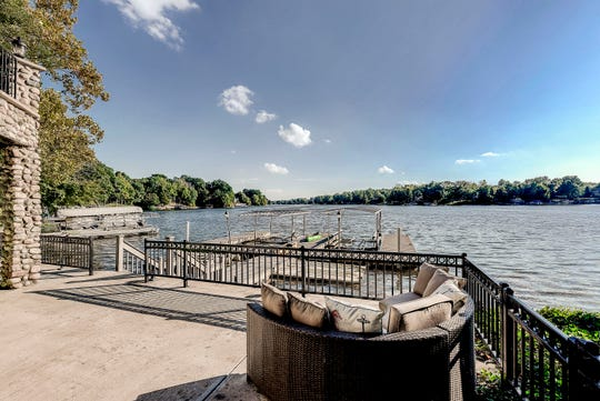 The home at 219 Surrey Hill has ample dock space on Morse Lake.