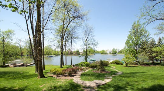 The home at 9052 Diamond Pointe sits on an inlet of the Geist Reservoir.