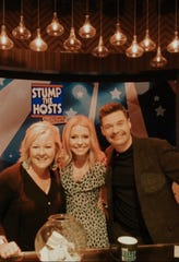 "Knoxville's Kristy Bruce with Kelly Ripa and Ryan Seacrest on ""Live with Kelly and Ryan."""