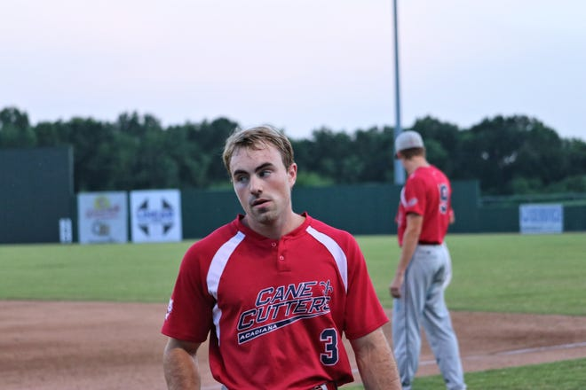 Cane Cutters outfielder Trace Henry is shown at Monday's game vs. the Victoria Generals.