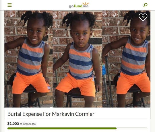 A screenshot of the GoFundMe page created to raise money for Mar'Kavin Cormier, who was shot and killed on June 30.