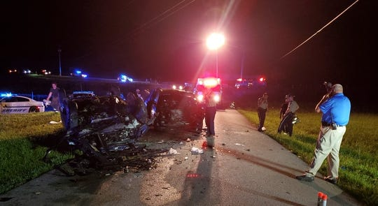 A two-vehicle crash on Old Way Road near London, Kentucky, resulted in the deaths of 21-year-old James Dylan Johnson, of London, and 38-year-old Jamie Gilliam, who was the principal of Johnson Elementary School in London.