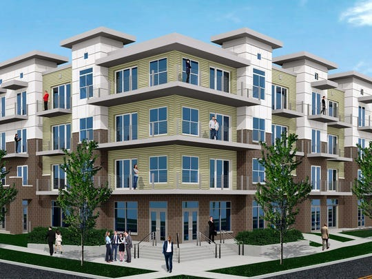 Metro Place is a $25 million housing and retail development planned for the former YMCA site near downtown Lansing's Reutter Park.