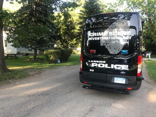 Police officers and crime scene investigators spent much of Monday at a residence in a southside neighborhood.