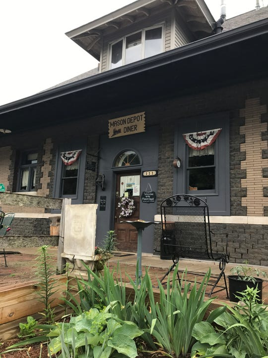 The Mason Depot Diner was damaged in a Monday fire.