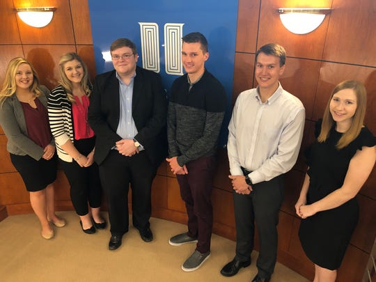 Investors Community Bank's summer 2019 interns are, from left: Paige Soukup, Tori Wilkins, Patrick Henry, Tucker Noe, Kyle Staudt and Kelly Wilfert.