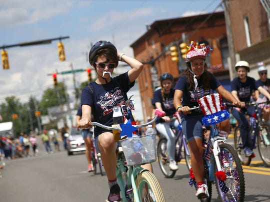 Bicycles take center stage in the 2017 parade, an annual favorite of Shelby Bicycle Days.