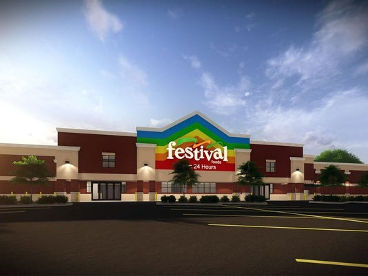 A rendering of a Festival Foods supermarket.