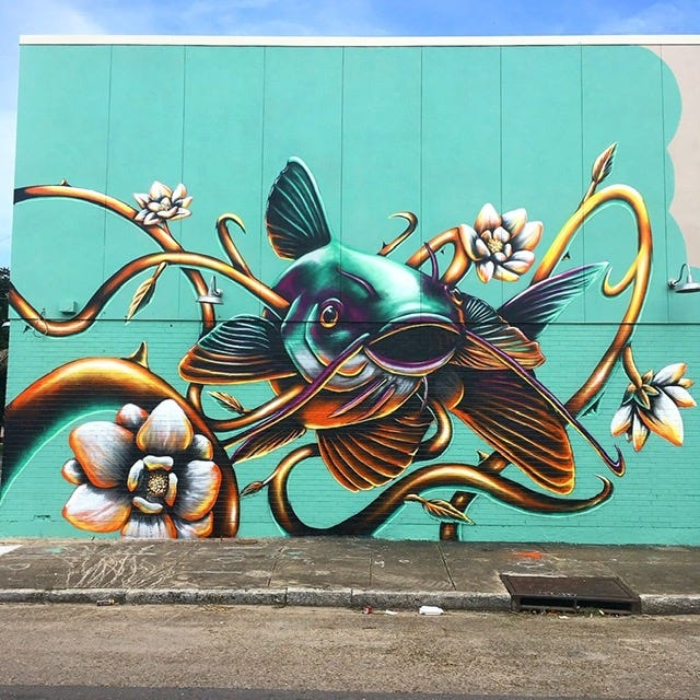 Ivan Roque of Miami, Florida, will paint a wall on TosaYoga. Roque is one of six artists selected to paint murals in East Tosa this summer.